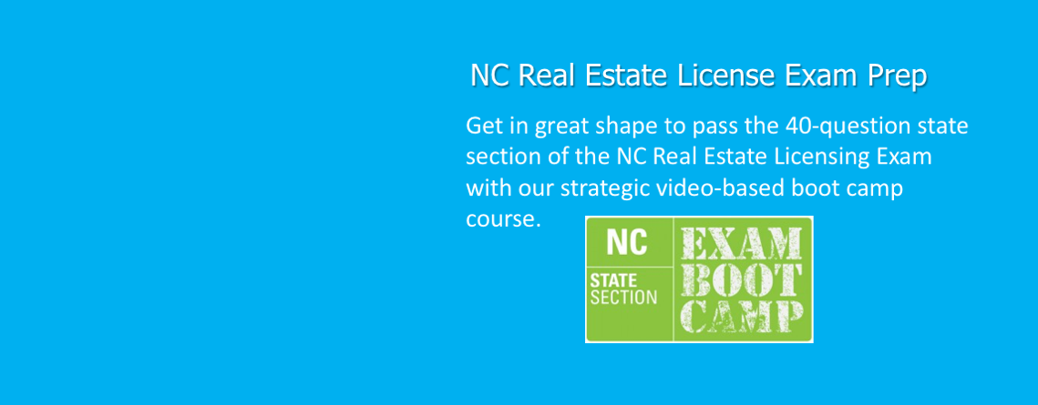 NC Real Estate License Exam Prep