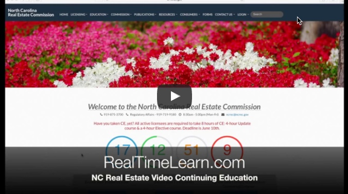 How to check your NC Real Estate Broker Continuing Education transcript